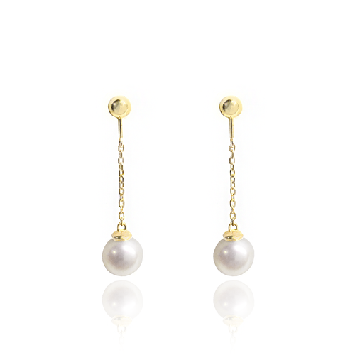 14k Gold Pearl Earrings