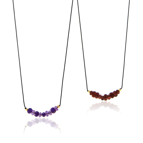 Birthstone Bar Cord Necklace