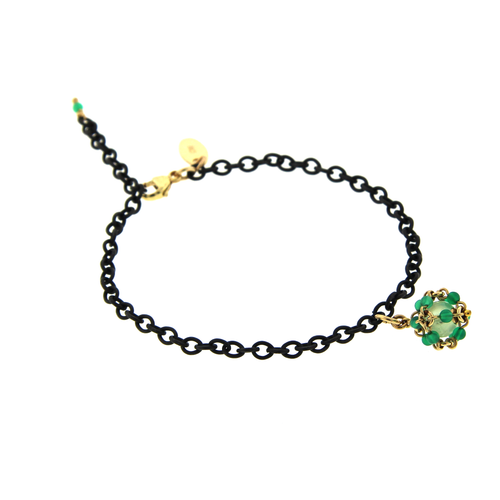 Bracelet with Cluster Charm