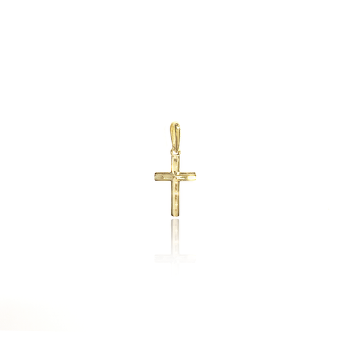 Diamond-cut Cross Charm