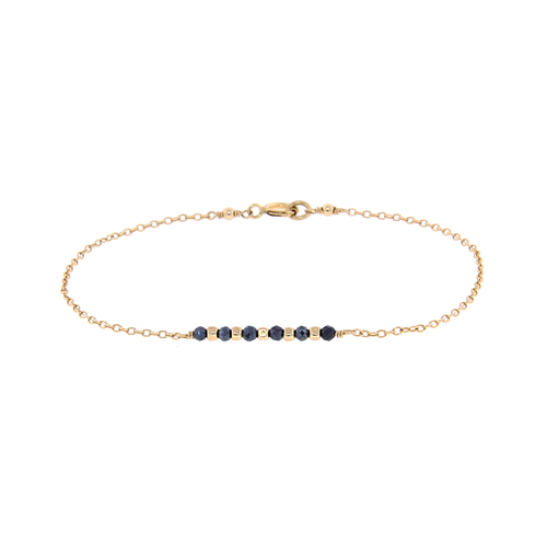 Dainty Gemstone Bar Bracelet
