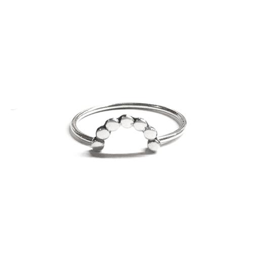 Dotted Half Circle Ring