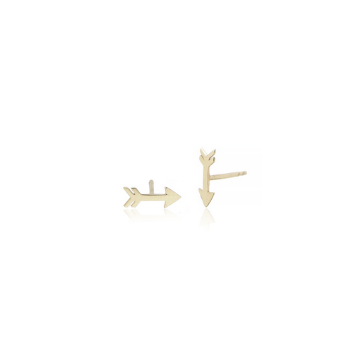 Gold Arrow Studs