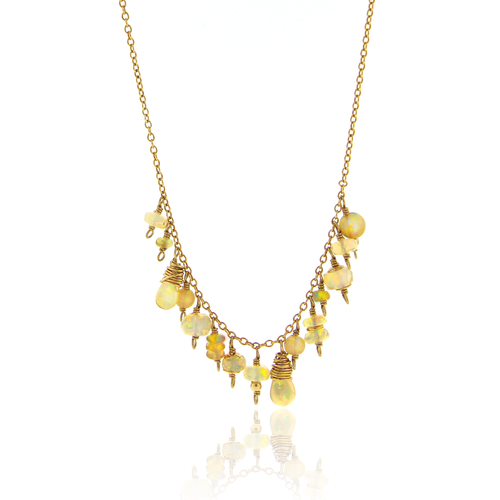 Opal Charm Necklace