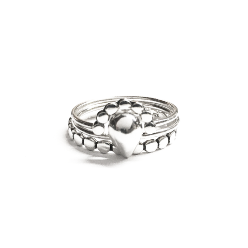 Silver Stackable Ring Set