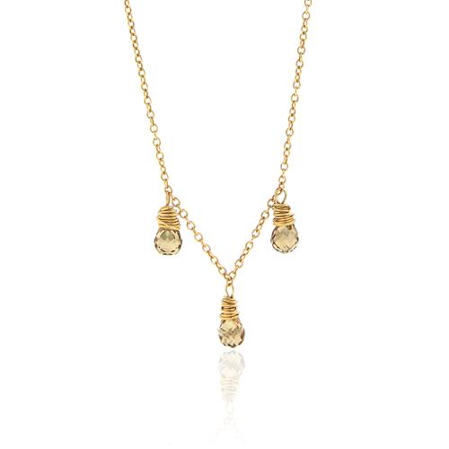Smoky Quartz Briolette Necklace