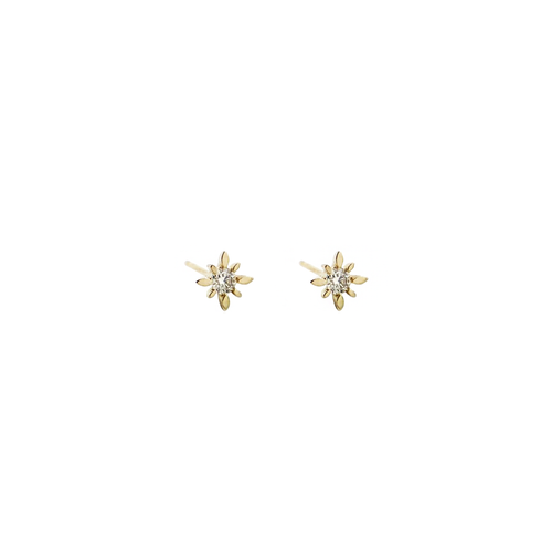 Star Studs with Diamonds