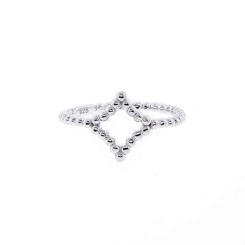 Beaded Rhombus Ring