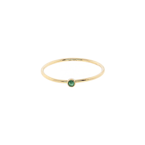 Dainty Stacking Ring with Emerald