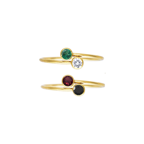 Dainty Bypass Ring