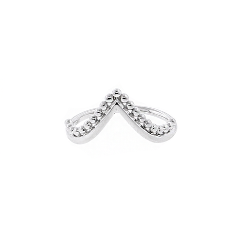 V-shape Beaded Ring