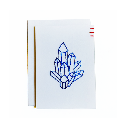 Blue Crystal Cluster Card and Mini Art