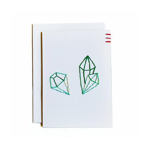 Stitched Emerald Card and Mini Art