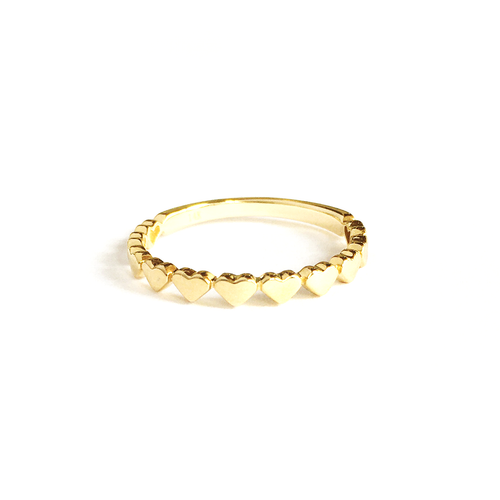 14k Multi Heart Ring