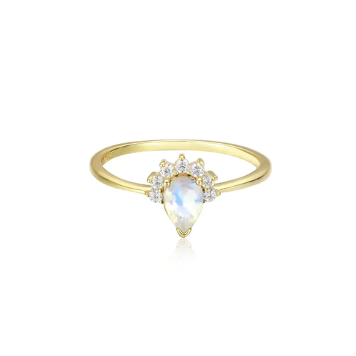 Crown Moonstone Ring