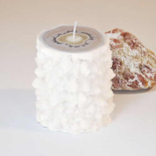 Moonstone Crystal Stalactite Candle