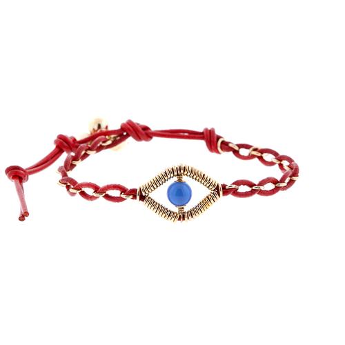 Eye Leather Bracelet