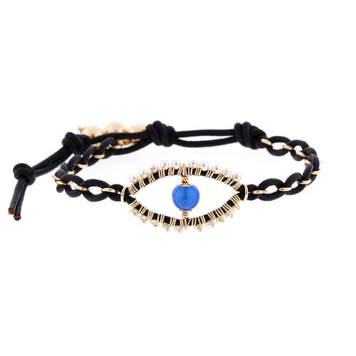 Large Eye Leather Bracelet