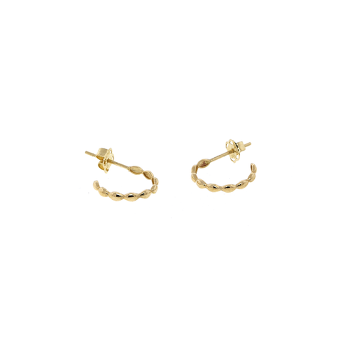 14k Dotted Hoop Earrings