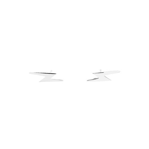 Silver Lightning Studs
