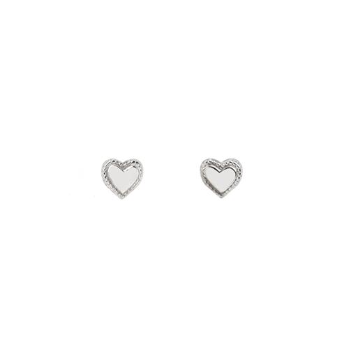 Tiny Heart Studs