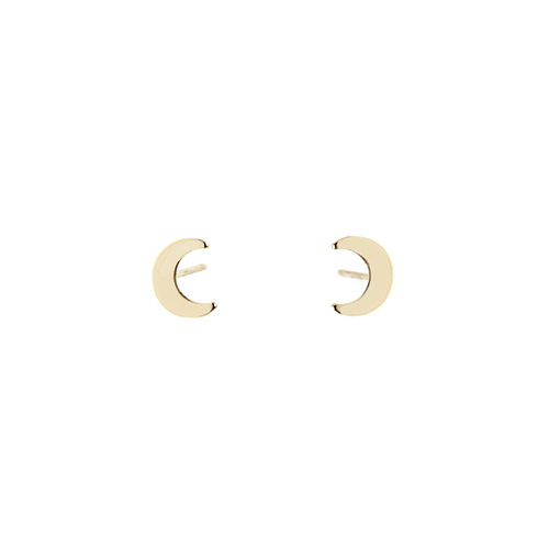 14k Moon Stud (Single)