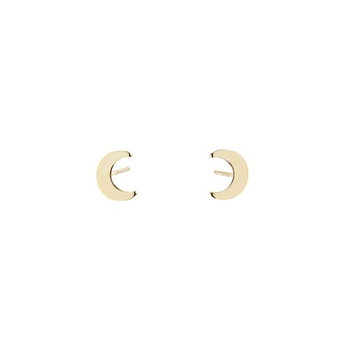 14k Moon Stud (Single)