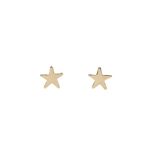 14k Star Studs
