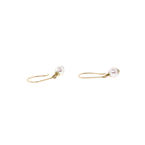 14k Dangling Pearl Earrings