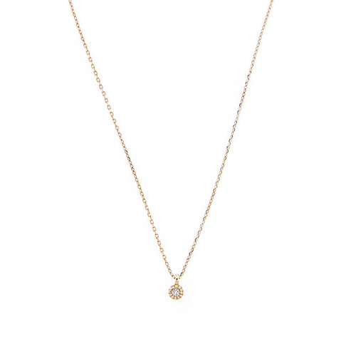 14k Tiny Diamond Necklace
