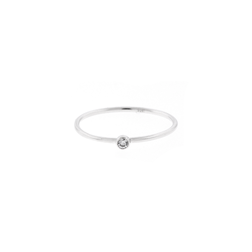 Stacking Tiny CZ Ring