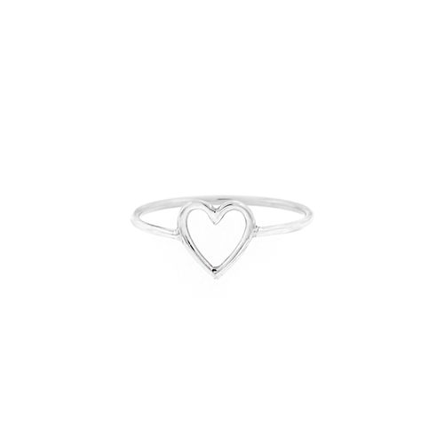 Stacking Open Heart Ring