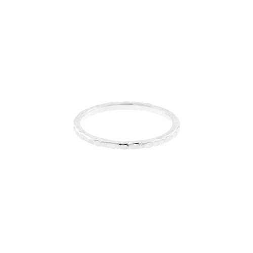 Stacking Hammered Ring