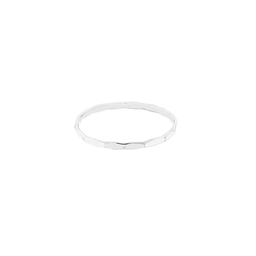 Stacking  Faceted Ring