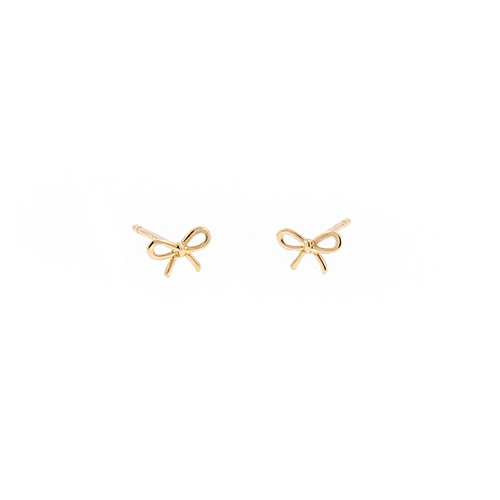 14k Bow Stud (Single)