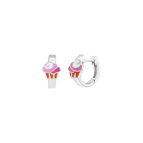 Cupcake Huggie Earrings