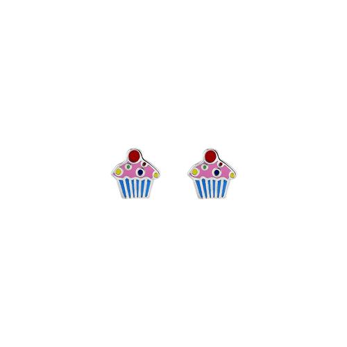 Multi Color Enamel Cupcake Studs