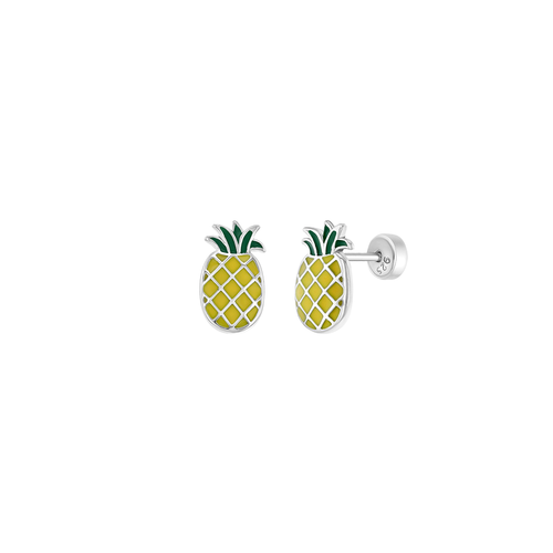Enamel Pineapple Stud Earrings