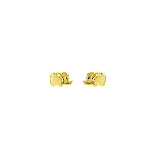 Solid Gold Tiny Elephant Studs
