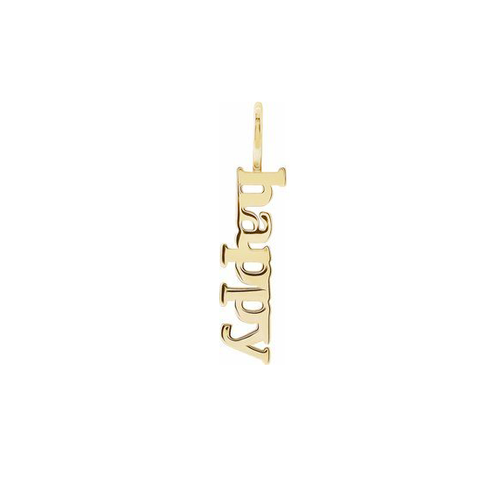 Solid Gold Happy Charm