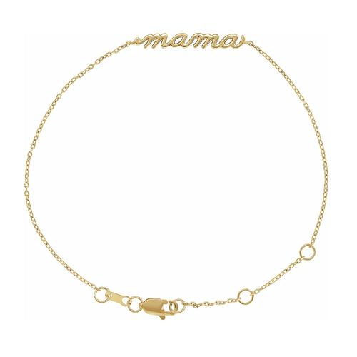 Solid Gold Mama Bracelet