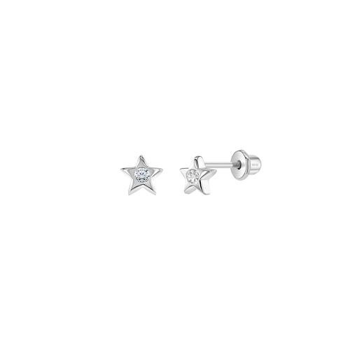 Star Studs with Cubic Zirconia Stones