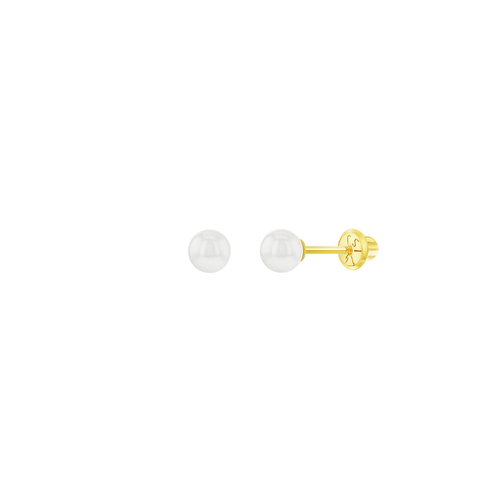 Solid Gold and Freshwater Pearl Earrings