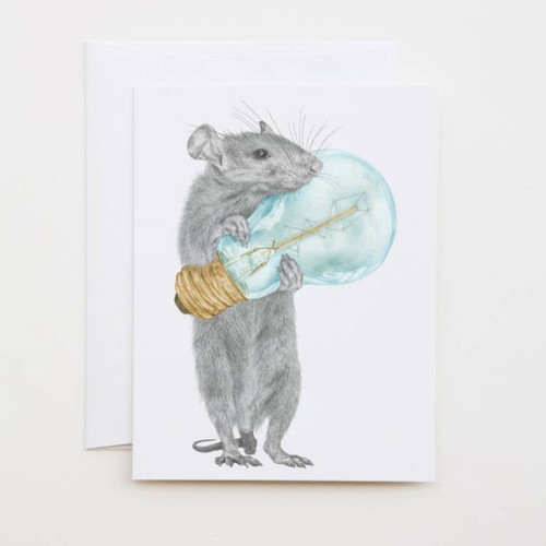 Griffith Sucrecoeur Rat Greeting Card with Whimsical Story