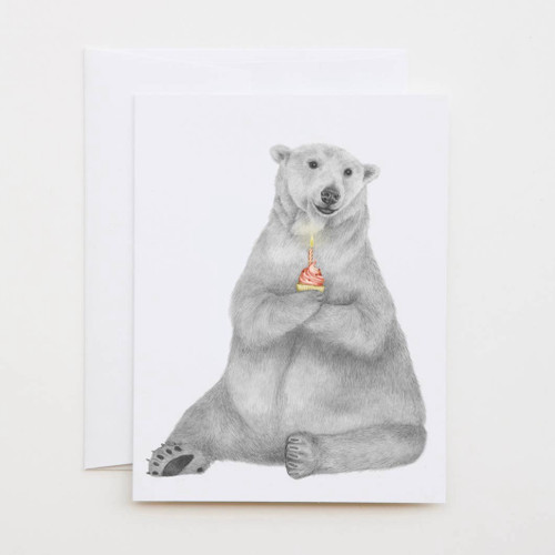 Hudson Churchill Polar Bear Greeting Card with Whimsical Story