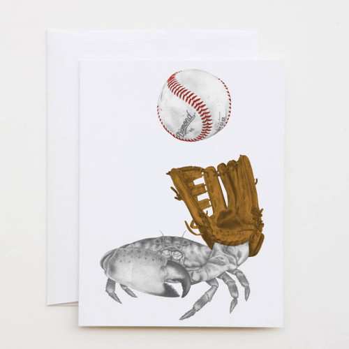 JR de la Paz Crab Greeting Card with Whimsical Story