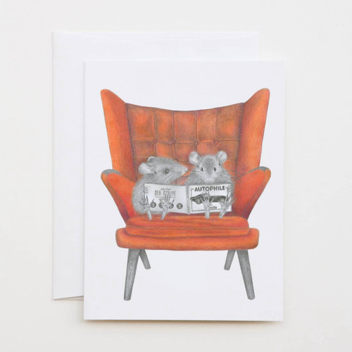 Mingle & Mondo Field Mouse Greeting Card with Whimsical Story