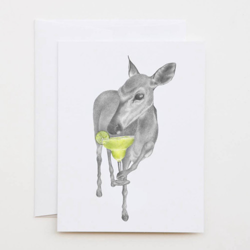 Orillia Kay Key Deer Greeting Card with Whimsical Story