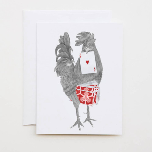 Petey Duval Key West Gypsy Rooster Greeting Card with Whimsical Story