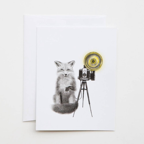 Quinn Bancroft Red Fox Greeting Card with Whimsical Story